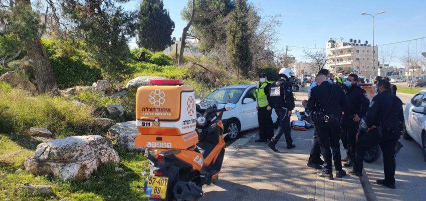 זירת התאונה בבית חנינא (צילום: דוברות איחוד הצלה)