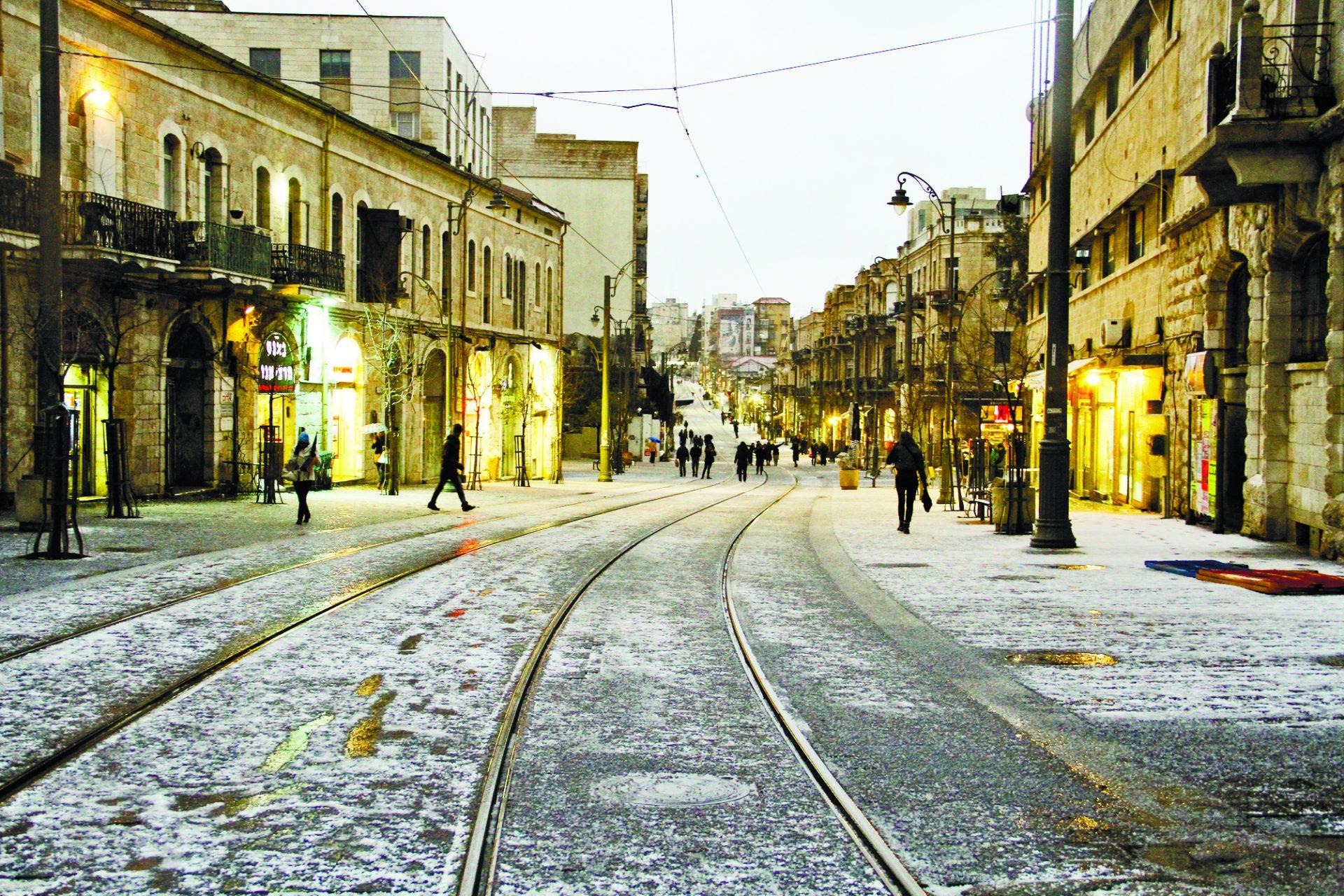 סופת השלג הגדולה ב-2013 (צילום: ארנון בוסאני)
