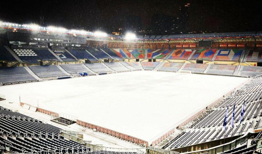 אצטדיון טדי בשלג (צילום: הנהלת טדי)