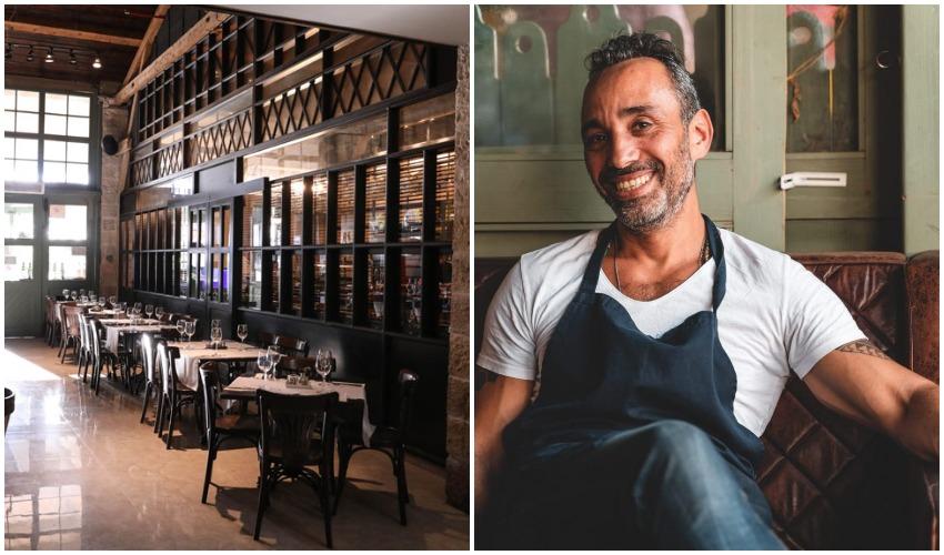 """מוטי דוד, מסעדת """"אדום"""" (צילומים: איתמר גינצבורג, אתי נמיר)"""