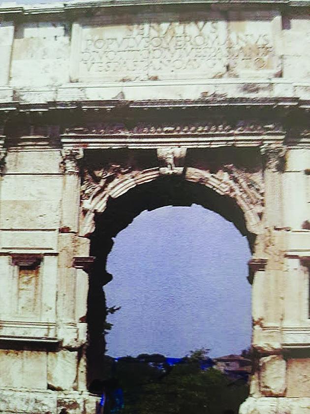 שער טיטוס ברומא (צילום: אדם אקרמן)