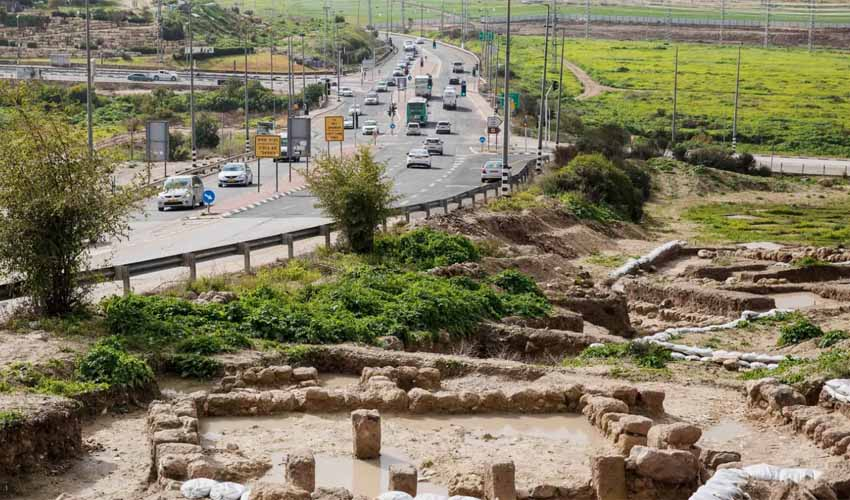 כביש 38 באזור תל בית שמש (צילום: אמיל סלמן)