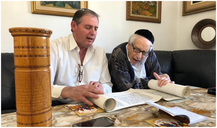 """(מימין) מרדכי אנסבכר ז""""ל ובנו אביעד אנסבכר (צילום: באדיבות המשפחה)"""