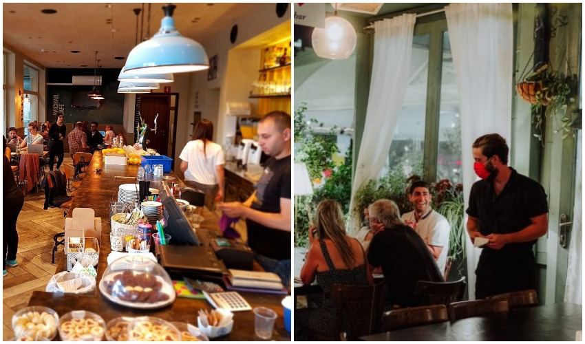 """מסעדת """"אדום""""במתחם התחנה, """"קפה אביחיל""""במלחה (צילומים: איתמר גינצבורג, רון ירקוני יחסי ציבור)"""