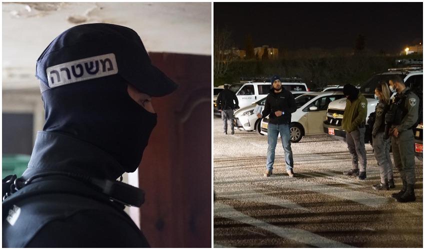 מתוך פעילות המשטרה שחשפה סחר בסמים מסוכנים (צילומים: דוברות המשטרה)