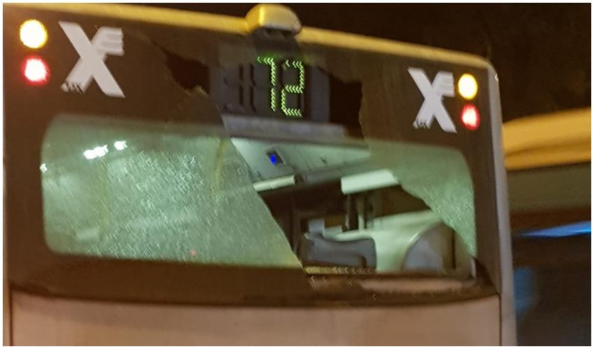 האוטובוס שהותקף (צילום: דוברות אגד)