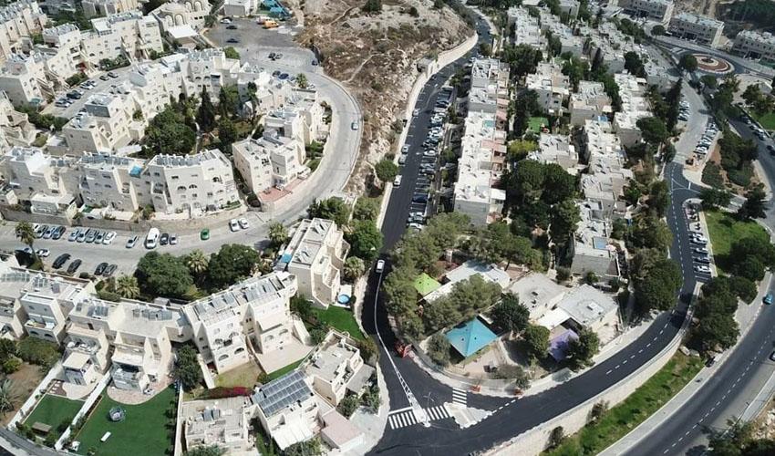 הרחובות המשודרגים ברמות (צילום: ממעוף הציפור, באדיבות המצלם)
