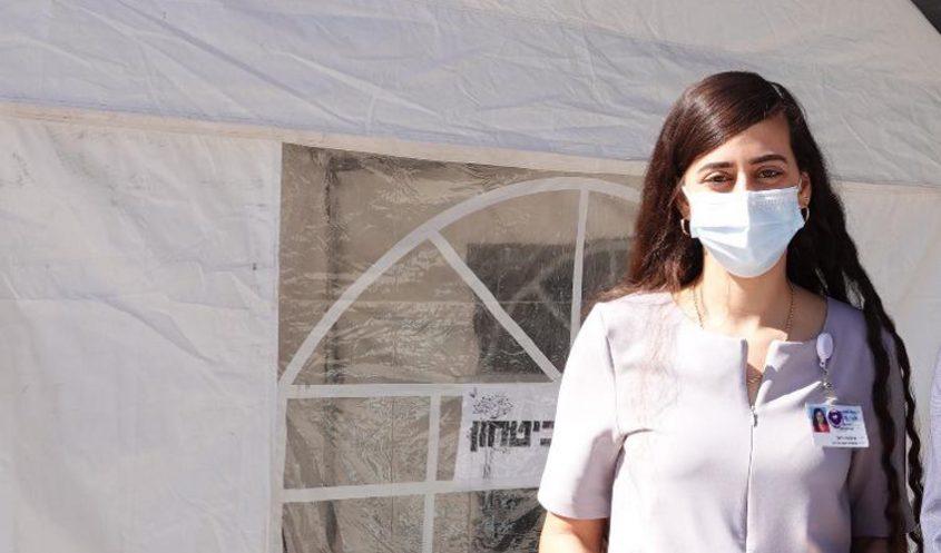 רות מלכה, עובדת סוציאלית במחלקת הקורונה כתר א' בשערי צדק (צילום: שערי צדק)