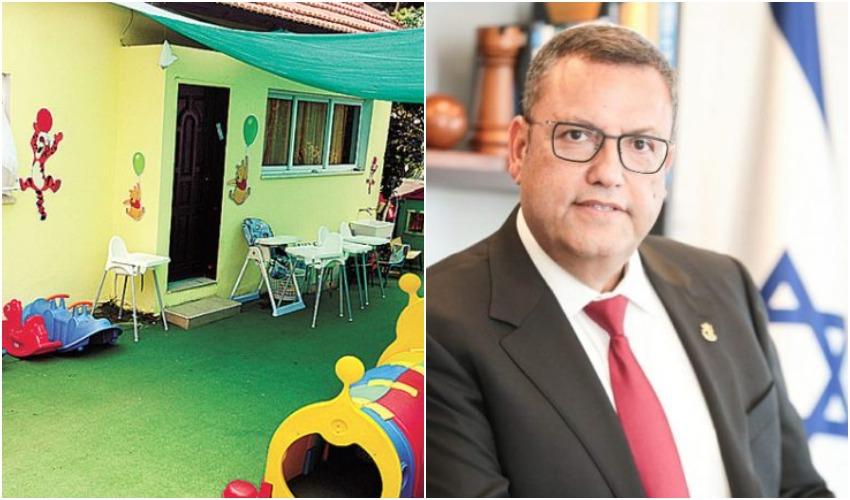 ראש העיר משה ליאון, גן ילדים אילוסטרציה (צילומים: ראובן קפוצ'ינסקי, זאב שטרן)