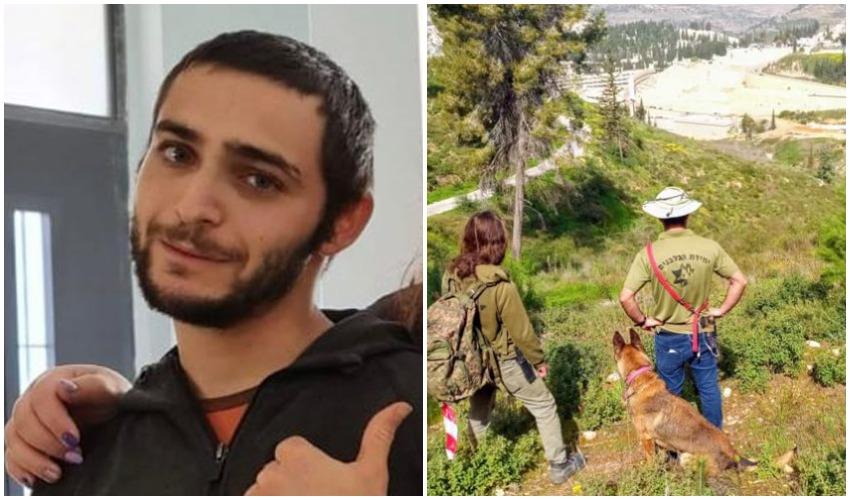 """החיפושים אחר הצעיר, אבידן מיכאל גנטשר ז""""ל (צילום: יחידת הכלבנים לישראל)"""