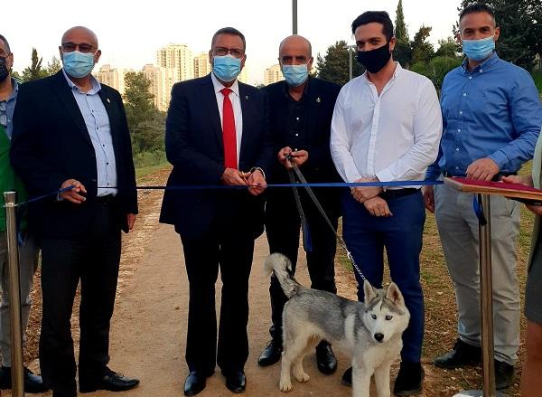 חנוכת גינת הכלבים בגן סאקר (צילום: דוברות עיריית ירושלים)