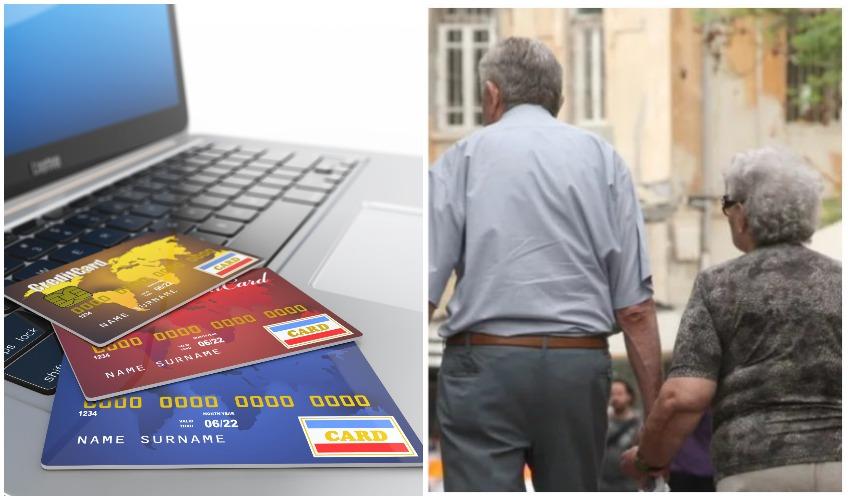 אילוסטרציה קשישים, כרטיסי אשראי (צילומים: אורן זיו, אילוסטרציה א.ס.א.פ קריאייטיב INGIMAGE)