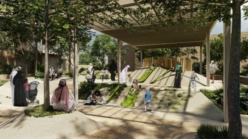 גן פרדוסי (הדמיה: מתוך מצגת שתוצג בעירייה)