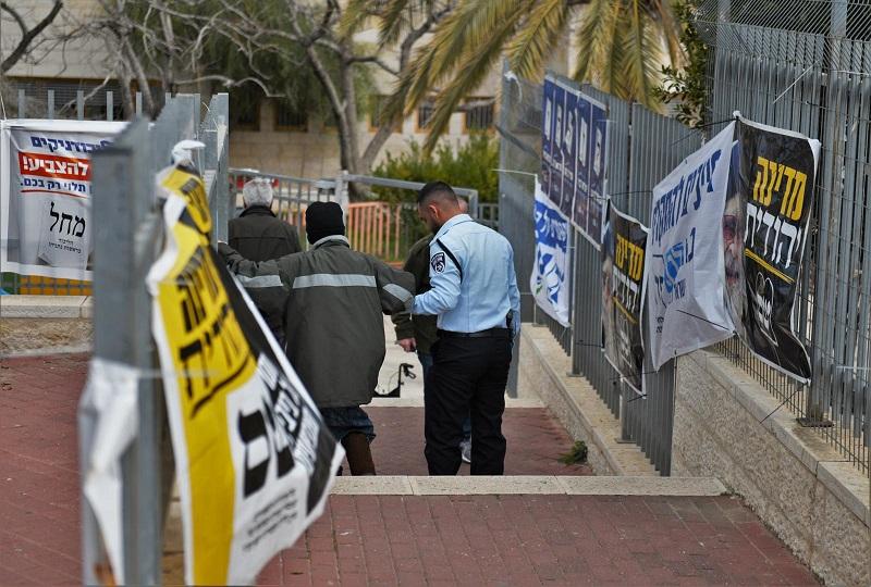 פעילות המשטרה במהלך הבחירות לכנסת (צילום: דוברות המשטרה)