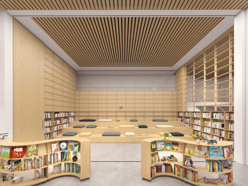הספרייה העירונית המרכזית (הדמיה: כסיף אדריכלים)