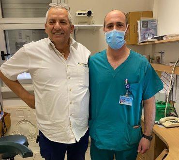 """ד""""ר לירן טיאוסנו ודורון ערוסי (צילום: דוברות הדסה עין כרם)"""