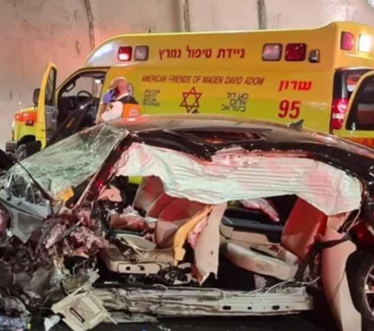 """זירת התאונה הקטלנית בכביש 6 - חיים הר כסף ז""""ל (צילום: תיעוד מבצעי מד""""א)"""