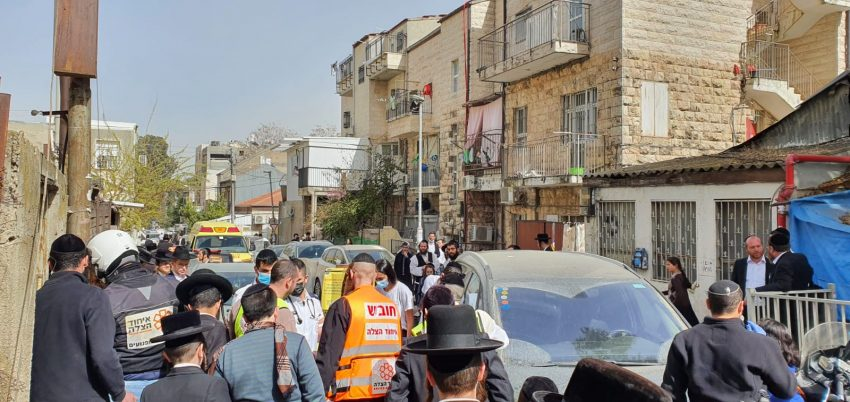 זירת התאונה בשכונת בית ישראל (צילום: תיעוד מבצעי איחוד הצלה)
