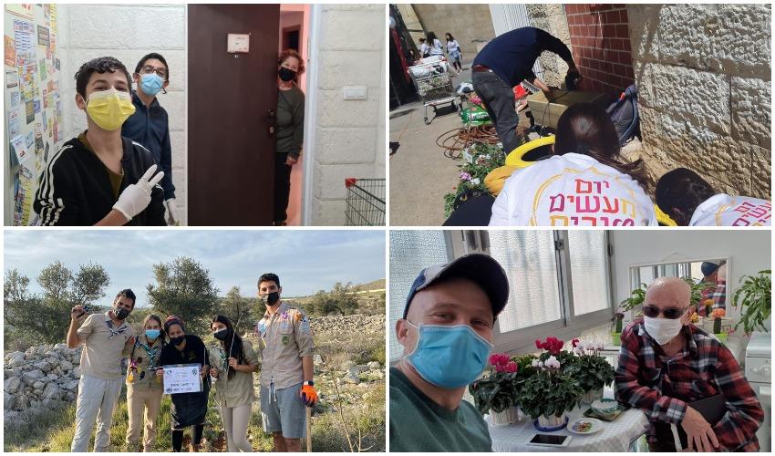 יום המעשים הטובים (צילומים: אגף חברה, מינהל קהילה ורווחה)