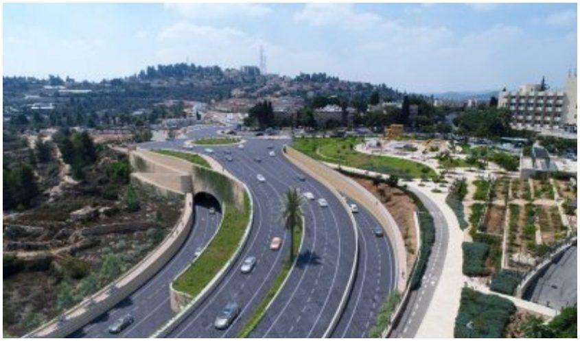 הדמיית ההפרדה המפלסית בצומת אורה (הדמיה צוות תוכנית אב לתחבורה ירושלים)
