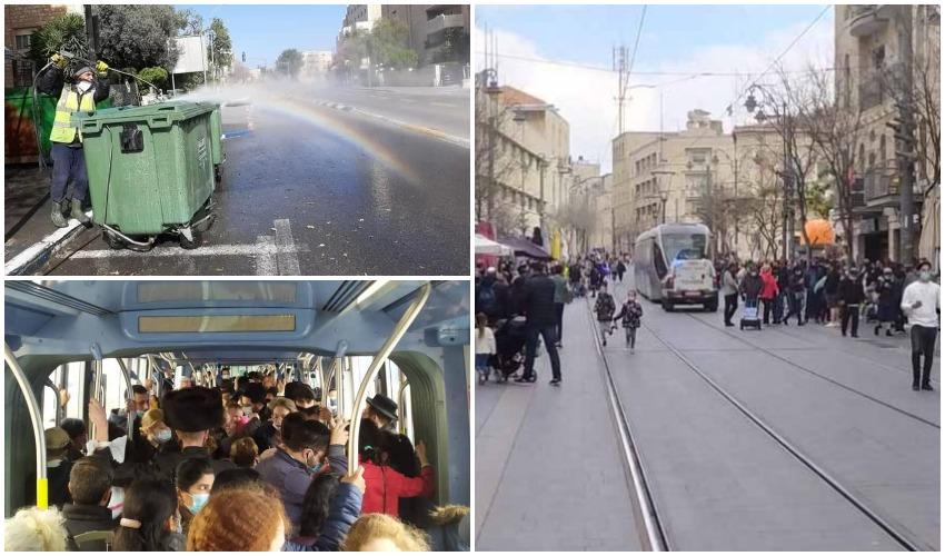 חול המועד פסח 2021 בירושלים (צילומים: שלומי הלר, עיריית ירושלים)