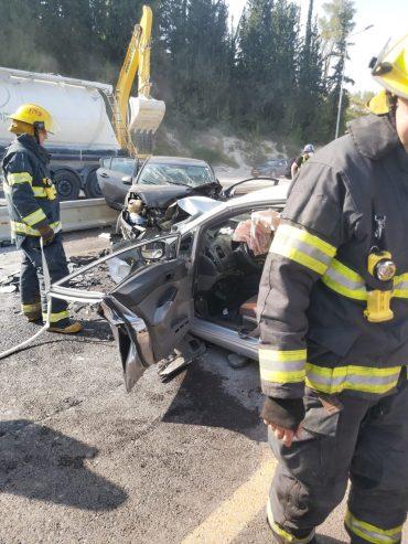 התאונה הקשה בכביש 38 (צילום: דוברות כבאות והצלה ירושלים)