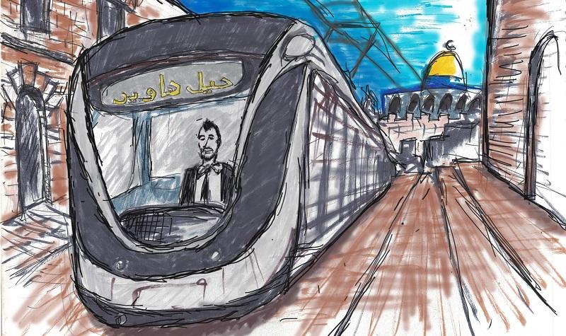 """איור מתוך """"סינדרום ירושלים: סיפור קטן על עיר גדולה"""" (איור: אלון פרי)"""