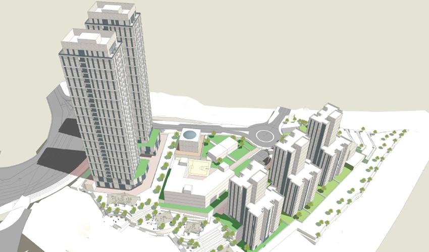 אזור המגורים החדש בהר חומה (הדמיה: משרד אלי רכס אדריכלים)