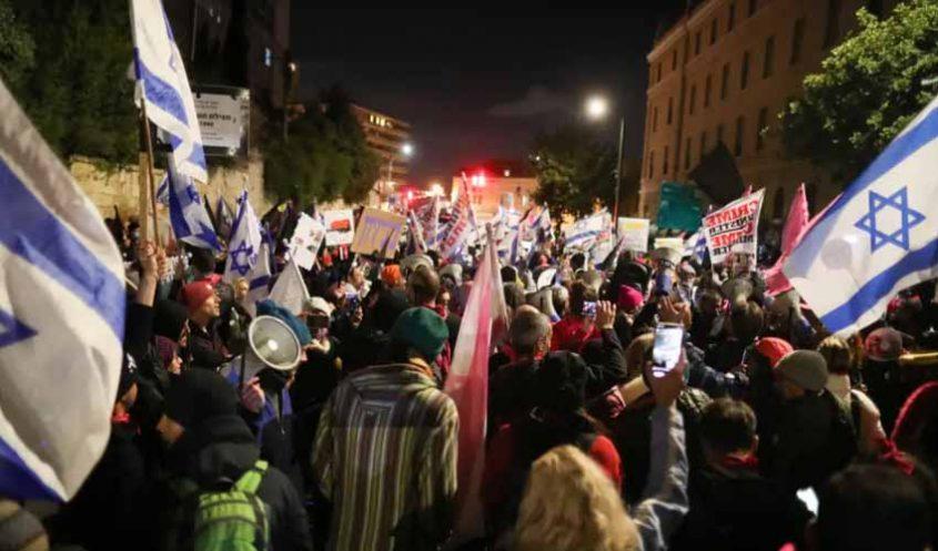 ההפגנה בכיכר פריז - מחאת בלפור התחדשה (צילום: אוהד צויגנברג)