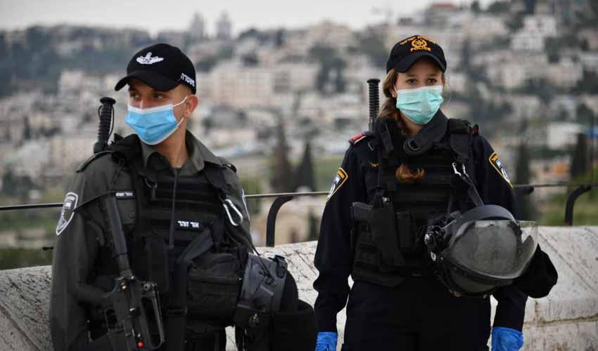 כוננות משטרתית לקראת תפילת יום השישי בהר הבית (צילום: דוברות המשטרה)