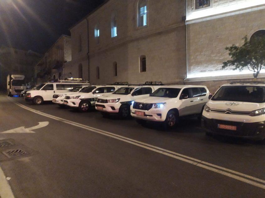 היערכות משטרת ירושלים לקראת צעדת הימין הקיצוני (צילום: פרטי)