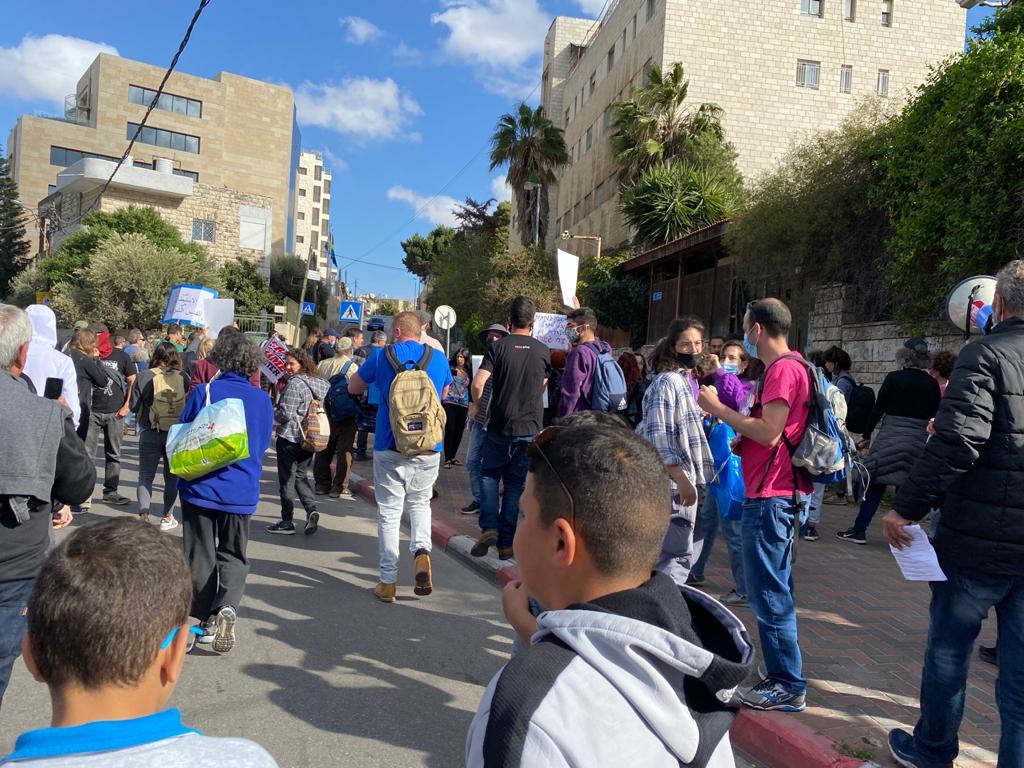 הפגנה בשייח גר'אח (צילום: פפה אללו)