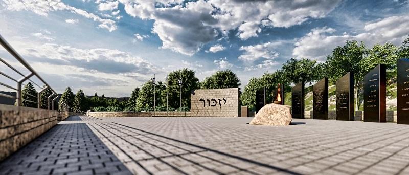 אנדרטת זיכרון לחללי מערכות ישראל וחללי פעולות האיבה ממבשרת ציון (הדמיה: באדיבות דוברות מועצת מבשרת ציון)