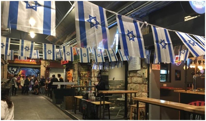 השוק הסגור במחנה יהודה בערב יום העצמאות 2019 (צילום: פרטי)