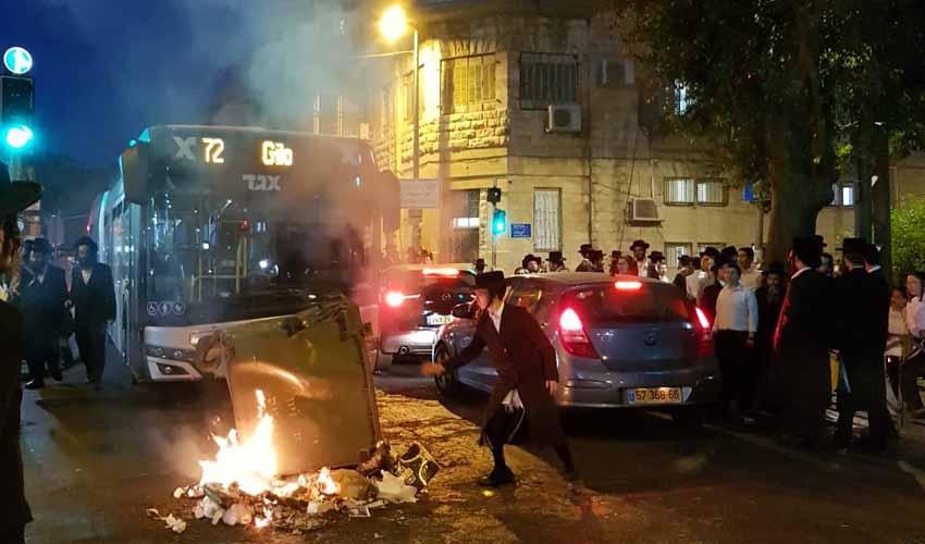 התפרעויות ברחוב יחזקאל (צילום: פרטי)