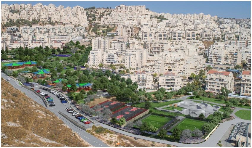 הפארק החדש בהר חומה (הדמיה: אדר' ליאור וולף)