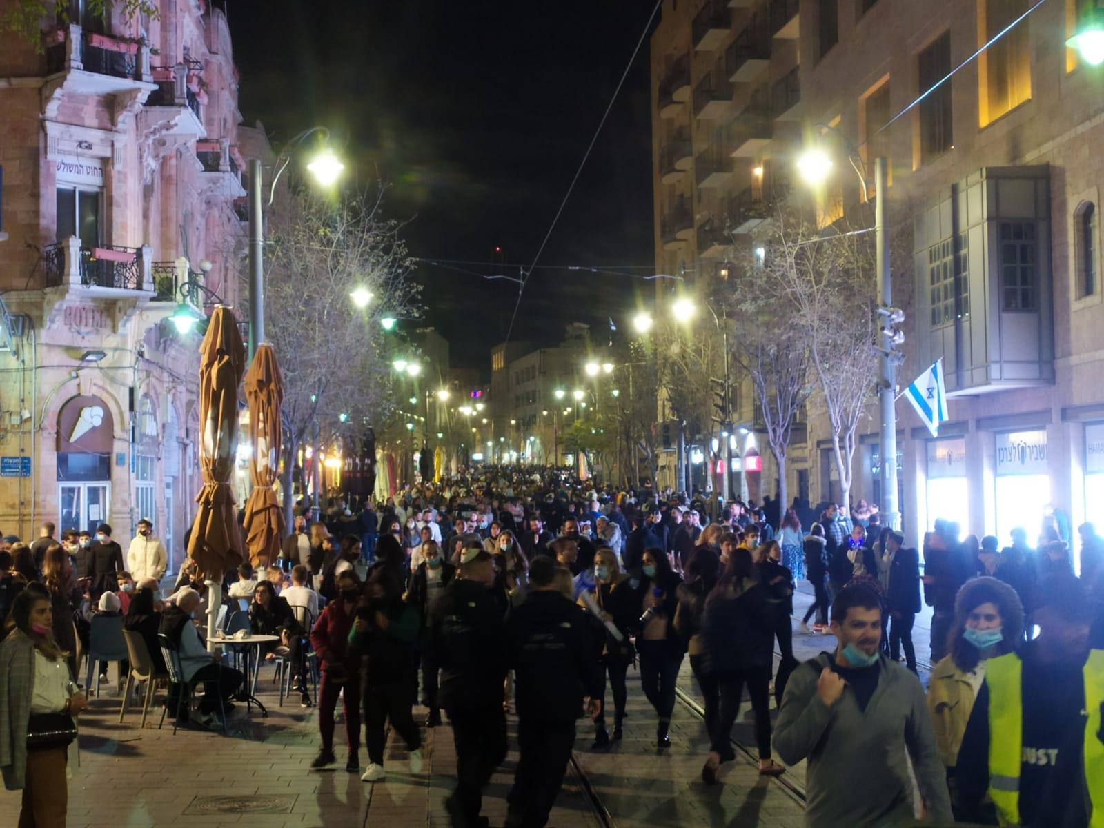 ערב יום העצמאות במרכז העיר ירושלים 2021 (צילום: שלומי הלר)