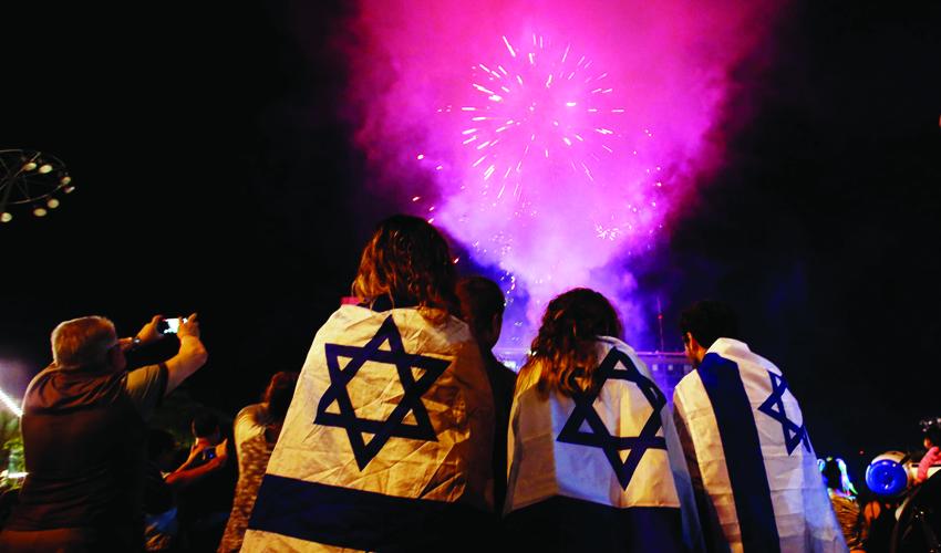 יום העצמאות, זיקוקים (צילום: רויטרס, BAZ RATNER)