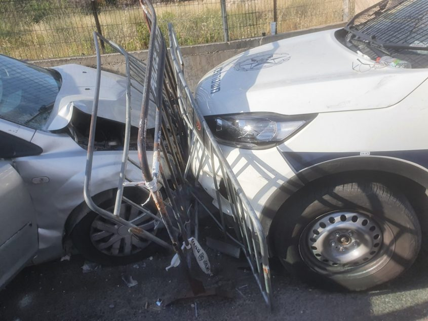 זירת פיגוע הדריסה בשייח ג'ראח (צילום: דוברות המשטרה)