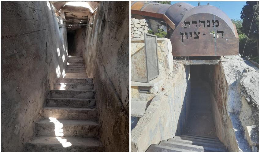 מנהרת הר ציון (צילומים: אדם אקרמן)