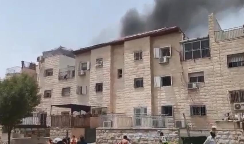 שריפה ברמת בית שמש (צילום: ש.כ. אחזקות והפקות)