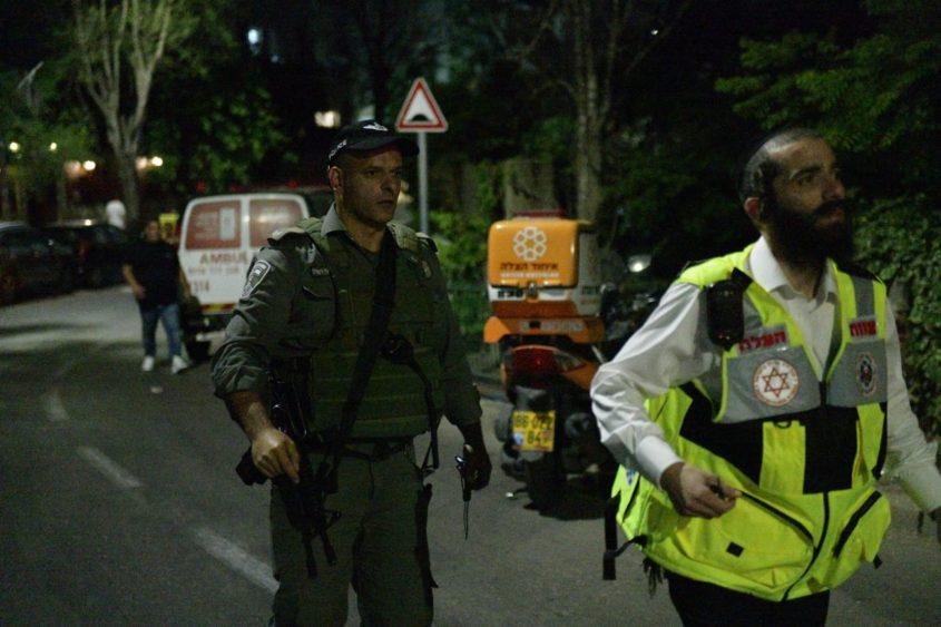 זירת קריסת הטריבונה בגבעת זאב (צילום: דוברות המשטרה)