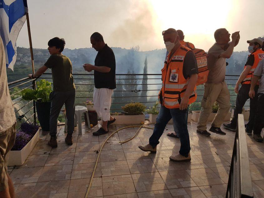 הנפילה סמוך לירושלים (צילום: תיעוד מבצעי איחוד הצלה)
