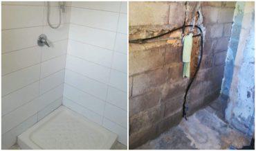 מקלחת ששופצה על ידי מתנדבי עמותת תנופה בקהילה (צילום: באדיבות עמותת 'תנופה בקהילה)