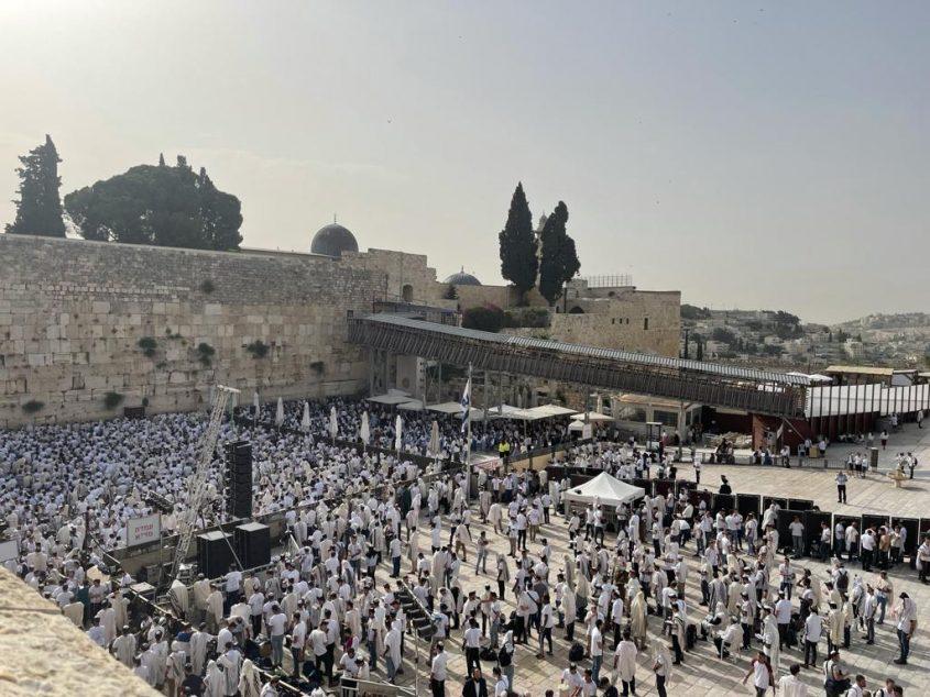 הכותל המערבי, יום ירושלים (צילום: דוברות המשטרה)