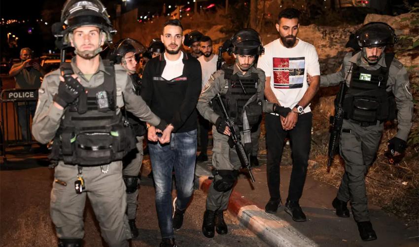שייח ג'ראח, הערב (צילום: AHMD GHARABLI - AFP)