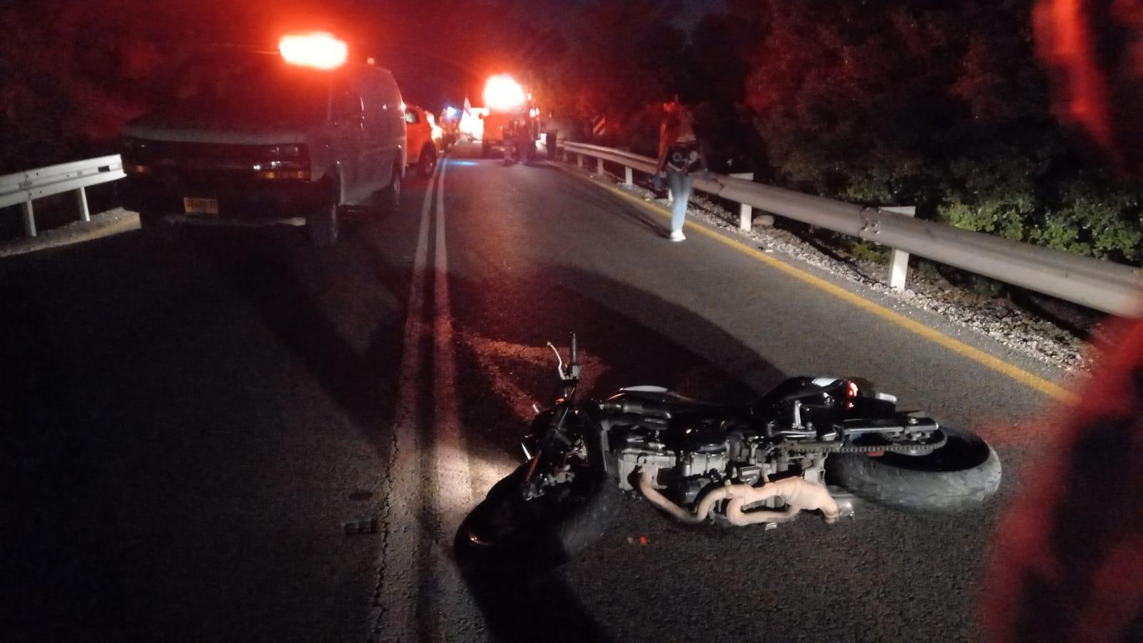 """זירת התאונה הקטלנית בכביש בית שמש-צור הדסה (צילום: תיעוד מבצעי מד""""א)"""