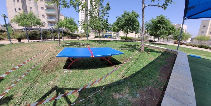 טניס שולחן ברחוב כסלו -טבת (צילום: דוברות עיריית מודיעין)