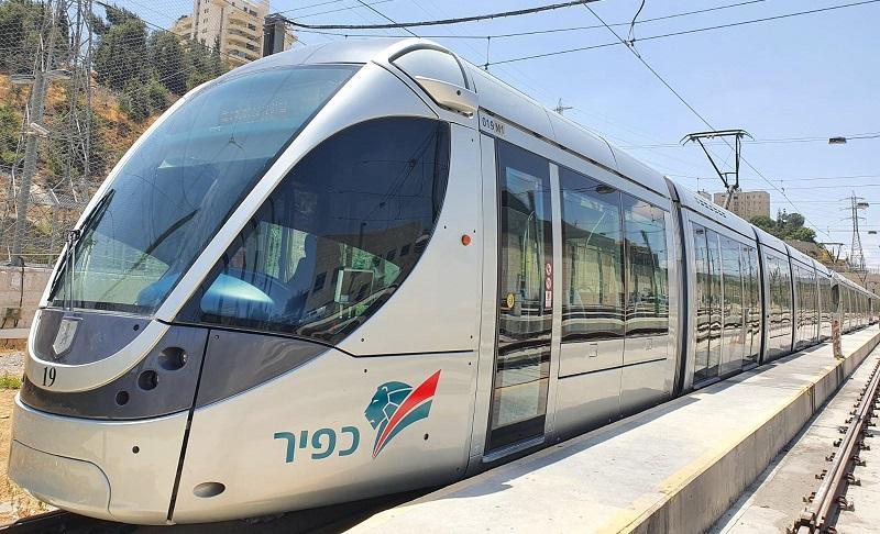 הרכבת הקלה בירושלים (צילום: כפיר רכבת קלה ירושלים)