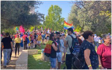 מצעד הגאווה 2021 בירושלים (צילום: פפה אללו)